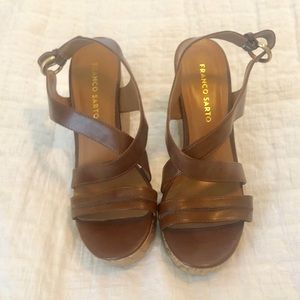 FRANCO SARGO BROWN WEDGE